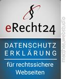 Logo eRecht24 Datenschutzrklärung
